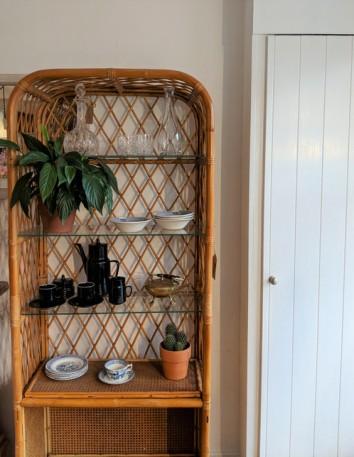 Image result for wicker shelves